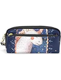 Estuche para lápices de gran capacidad con diseño de unicornio y estrellas, bolsa de papelería
