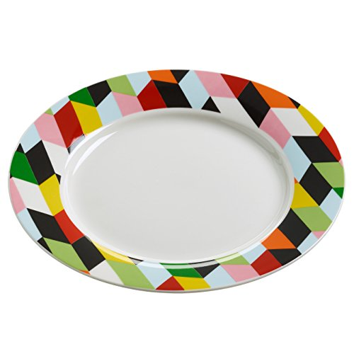 Maxwell & Williams rl0031 Assiette, Porcelaine, Multicolore, 11.4 x 35,6 x 55.2 cm