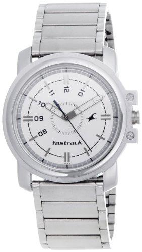 Fastrack Economy Analog White Dial Men's Watch - NE3039SM01