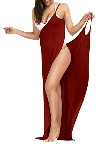 Outgoings Women's Bikini Cover up Spaghetti Strap Beach Dress Wrap Swimwear Swimsuit