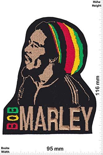 Patch - Bob Marley - Color - HQ - Musik - Bob Marley - Bob Marley - Aufnäher - zum aufbügeln - Iron On Bob Patch