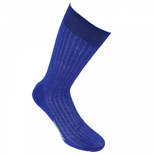Mercerised cotton socks, Premium quality. - blue - Tony & Paul