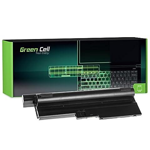 Green Cell® Extended Série Batterie pour Lenovo IBM ThinkPad R60 R60i R60e R61 R61e T60 T60p T61 SL400 SL500 R500 T500 W500 Ordinateur PC Portable (12 Cellules 8800mAh 10.8V Noir)
