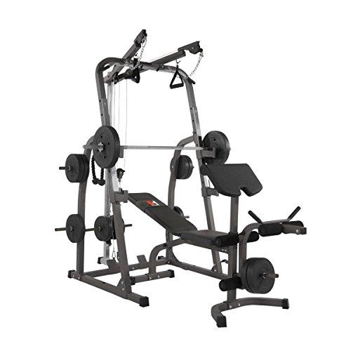 Hammer Kraftstation Solid XP mit Gewicht-Set und Stangen, schwarz/anthrazit, 240 x 153 x 216 cm