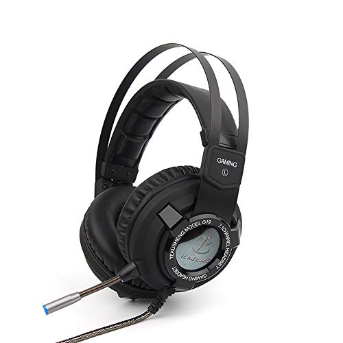 DoinMaster G19 Stereo Gaming Headset, Bass Surround und Noise Cancelling Over-Ear Kopfhörer mit Mikrofon für PC, PC VR, Mac, Xbox One Controller, Playstation 4, Laptop Mac, Nintendo Switch Games -