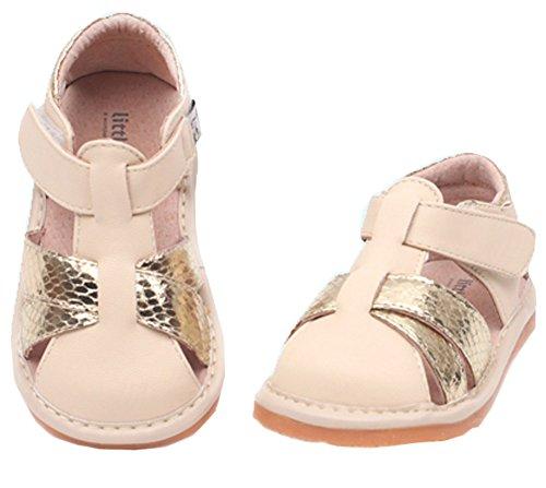 Pour Bébé/Petit Enfant près orteil sandales Casual extérieur Beige et Doré