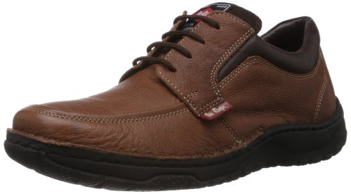 Lee Cooper Men's Brown Leather Sneakers - 7 UK