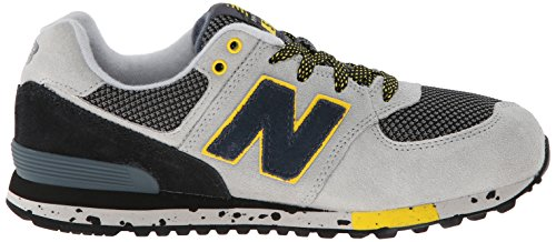 New Balance Classic Traditionnels Grey Black Youths Trainers Grey Black