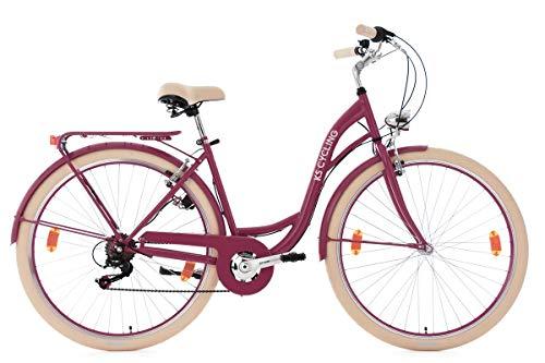 KS Cycling Damen Damenfahrrad 28\'\' Balloon rot Fahrrad, 28