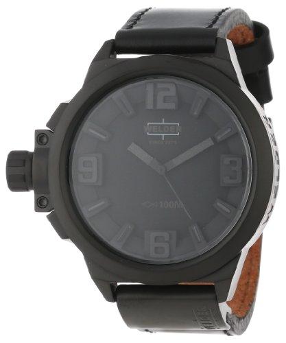 Welder K22 - Reloj analógico unisex de cuero negro
