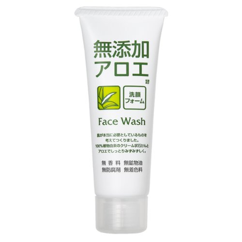 ROSETTE   Facial Washing Foam   Additive Free Aloe 140g (japan import)