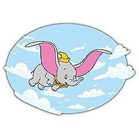 SkyBug Dumbo Elephant Cartoon Bumper Sticker Vinyl Art Decal for Car Truck Van Window Bike Laptop