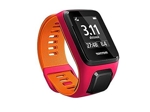 TomTom Runner 3 - Montre de Sport GPS - Bracelet Fin Fushia/Orange (ref 1RL0.001.02)