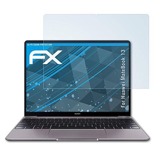 atFolix Schutzfolie kompatibel mit Huawei MateBook 13 Folie, ultraklare FX Bildschirmschutzfolie (2X)