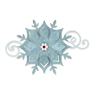 Sizzix Bigz Fustella Fiocco di Neve, Acciaio, 14X15.2 cm