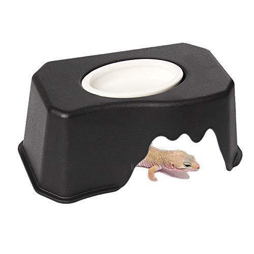 Hyihe Reptile Hide Cave Box Lizards Habitat con lavello Aumento dell' umidità e approvvigionamento idrico nascondiglio per...