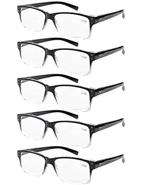 Cerniere a molla occhiali da lettura Uomo 5 pacco