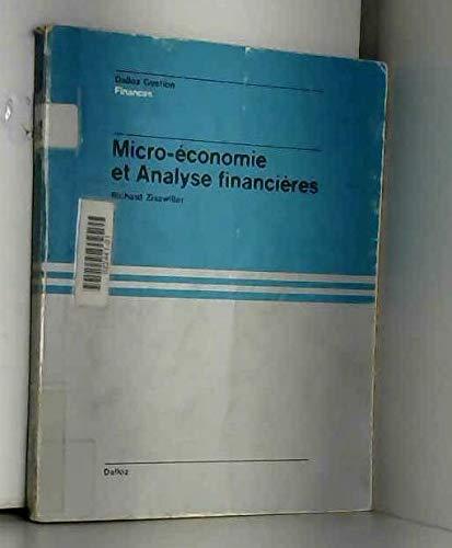 Micro-économie et analyse financière