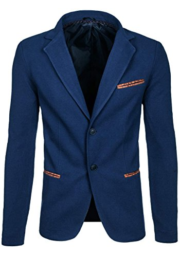 BOLF Herrensakko Slim Fit Blazer COOLBERG 606 Indigo-Braun M [4D4] |
