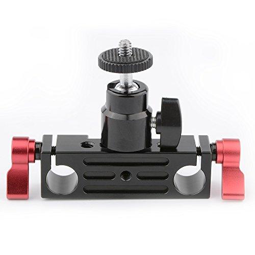 mp Schienen block W/BALL Head Mount 1/4-zoll-20 Für 15 mm Rod Unterstützung Schienensystem ()