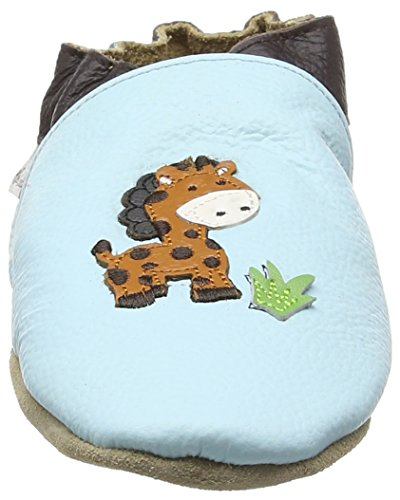 Rose & Chocolat Jungle Giraffe Baby Baby Jungen Lauflernschuhe Blau (Blue)