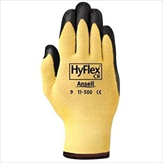 AnsellPro HyFlex 500 Light-Dty Gloves, Size 8, Kevlar/Nitrile, Yellow/Black, 12 Pairs by Ansell Limited