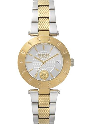 Versus Logo montre pour femme 2tons Or avec bracelet en acier inoxydable Sp772518