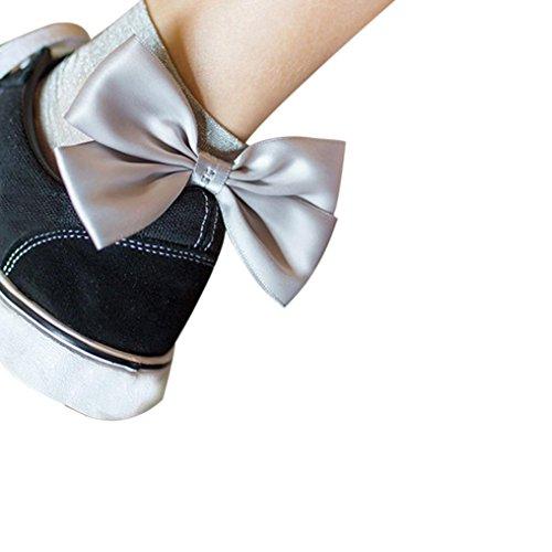 Silber Stulpen Kostüm (AMUSTER.DAN Netzstrumpfhose Netz Strumpfhose Kurze Strümpfe Schöne Socken Hohe Socken Mädchen Socken)