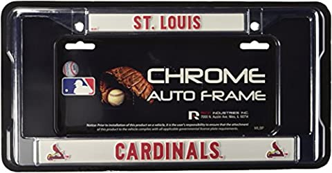 MLB St. Louis Cardinals Chrome License Plate Frame