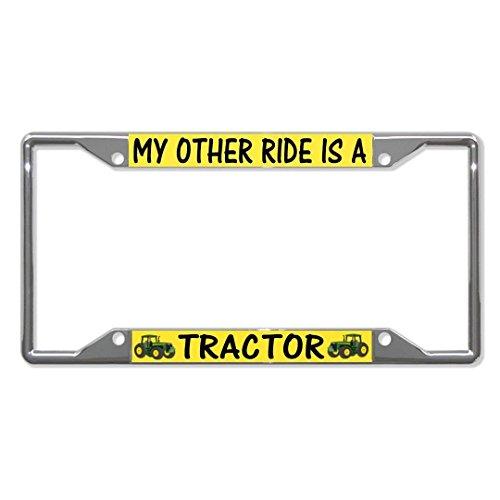 Teisyouhu My Andere Ride ist Ein Traktor Funny Nummernschild Bilderrahmen Auto Tag Halterung für Herren