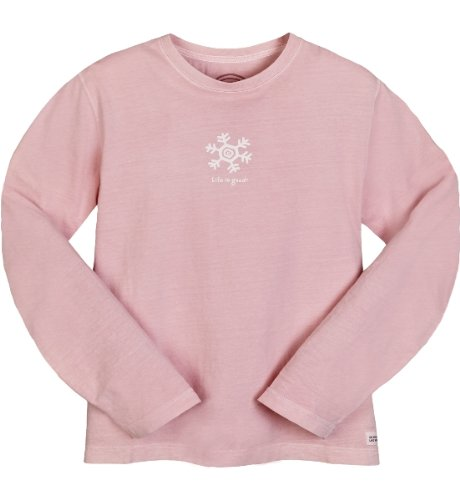 Life is Good Damen Crusher Longsleeve Petal