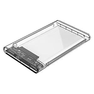 Orico 2.5 inch SSD Sata Hard Disk External Portable Case Cover USB3.0, 2139U3-CR (Transparent)