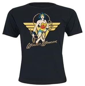 WONDER WOMAN - Lasso Women T-shirt - Black - Size Large