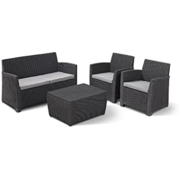 "Amazon.de: Allibert Gartenmöbel Lounge Set ""Corona"
