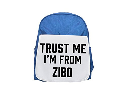 Trust Me I Am from Zibo Printed Kid 's blue Backpack, cute Backpacks, cute  small Backpacks, cute Black Backpack, Cool Black Backpack, Fashion