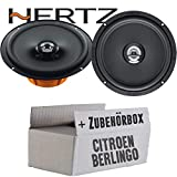 Hertz DCX 165.3-16cm Koax Lautsprecher - Einbauset für Citroen Berlingo 2 - JUST SOUND best choice for caraudio