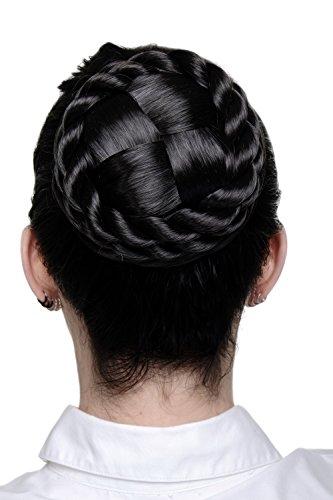 WIG ME UP - Haarteil aufwendig geflochten Zopf Dutt Haarknoten Tracht Braun (Trachten Russland)