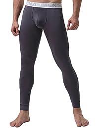 YiLianDa Uomo Intima Termica Lunga Pantaloni Modale Calzamaglia Termica Primo Strato