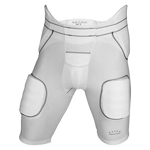 American Sports 5 Pad Girdle, Unterhose mit 5 integrierten Pads - weiß Gr. XS
