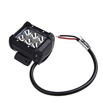 """Anself 18W 4 """"Spot Lampe de travail faisceau CREE LED pour Moto Jeep SUV ATV Off-road Truck"""