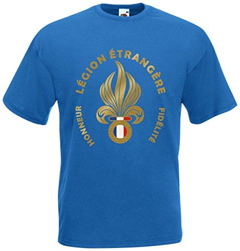 Fremdenlegion Frankreich Légion étrangère T-Shirt Fanshirt Royalblau