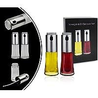 Leogreen - Dispensador de Aceite y Vinagre, Rociador de Cocina para Vinagre y Aceite, Rociador de acero, Tipo de paquete: Juego de 2, Estándar/Certificación: FDA