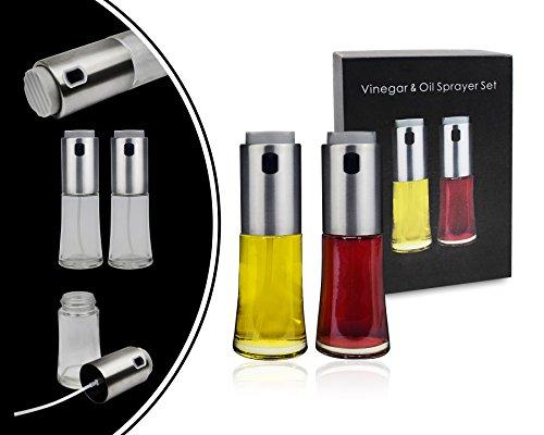 Leogreen - Distributeur d'Huile et de Vinaigre, Vaporisateur pour Huile et Vinaigre , Pulvérisateur en acier, Type d'emballage: Ensemble de 2, Standards/Certifications: FDA