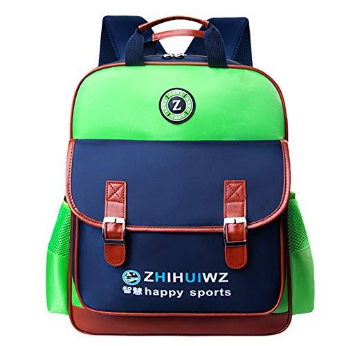 Grundschulrucksack Kinderrucksack Wasserdicht Abriebfest Schlank Leichte Studentenbuchtasche Britischen Stil Modetasche