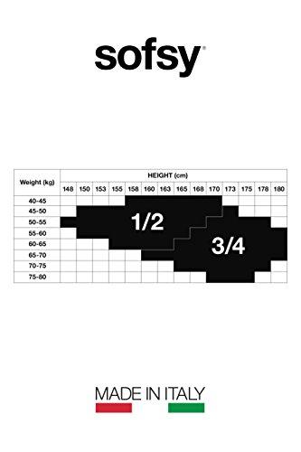 sofsy Fischernetz Strümpfe Schenkelhoch Silikon Spitzenrand Nylon Strümpfe Netz Dessous Strumpfwaren [In Italien Gefertigt] Tan 3/4 - Medium/Large