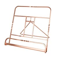 "Creative Home 50231 Renaissance Copper Plated Cookbook Holder, Copper, 10"" x 7-1/8"" x 9-7/8"""