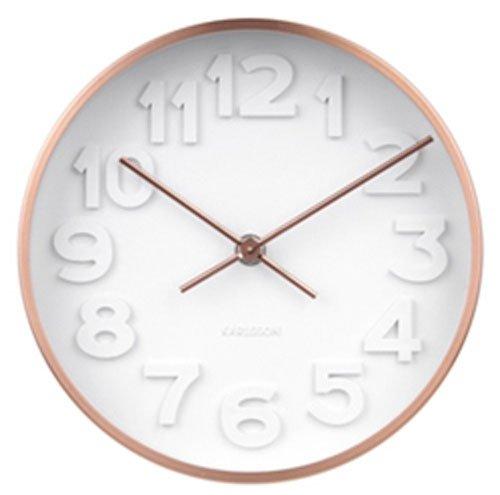 Karlsson Minimal Uhr, Wanduhr, Stahl, Weiß, One Size