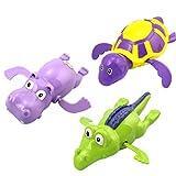 TOYMYTOY 3Pcs Baby Badewannenspielzeug Wasserspiel Uhrwerk Badespielzeug Kinder Pädagogisches Wasser Spielzeug Badespaß