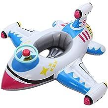 V-SOL Flotador para Bebés con Asiento de Juguete Piscina Niños Modelo Avión ...