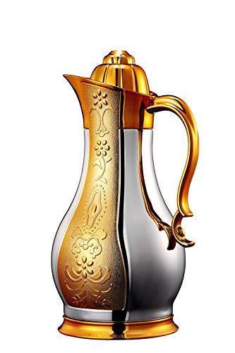 sumerflos® 34oz Edelstahl Gehäuse Thermo Kaffee Karaffe/Getränke Spender/Tee Topf mit Deckel/Thermo Kaffee Topf 1Liter (Pearl White) (Tee Thermal)
